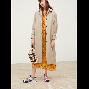 Zara Khaki Oversized Trench Coat sz XS-Small